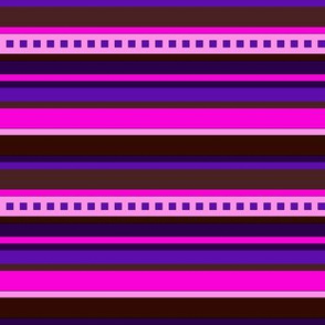 BN7 - CW Stripe in pinks, purple and maroon