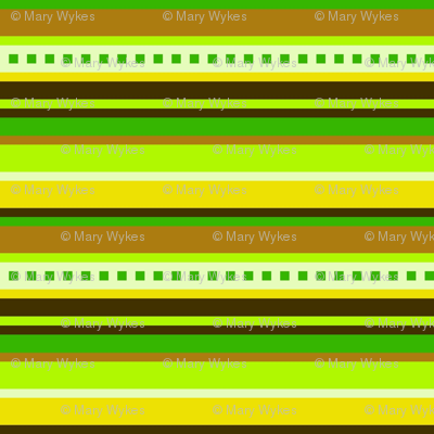 BN5-CW  Stripes in Green, Yellow and Brown, large scale