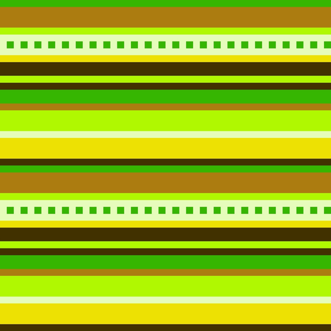 BN5-CW  Stripes in Green, Yellow and Brown, large scale fabric by maryyx on Spoonflower - custom fabric