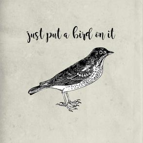 Just put a bird on it - bird throw pillow layout