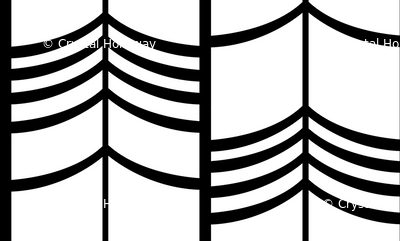 Arrow Columns | White-and-Black Small