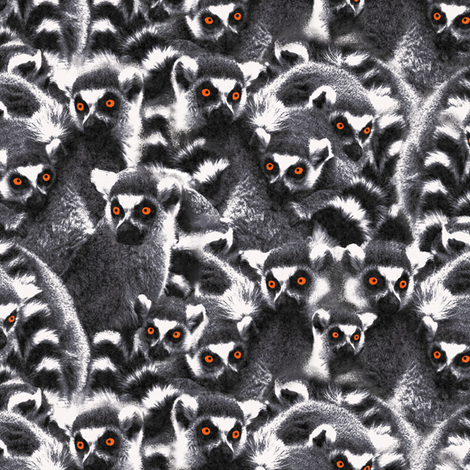 Lemur grey fabric by susiprint on Spoonflower - custom fabric