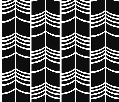 Arrow Columns | Black-and-White Large fabric by crystal_holloway on Spoonflower - custom fabric