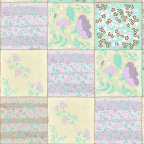 Flower blocked design for quilt