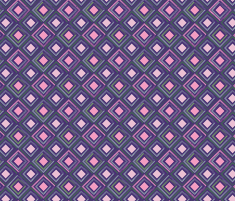 Purple Cubes fabric by rebecca_leigh_designs on Spoonflower - custom fabric