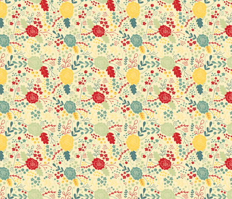 Happier (4) fabric by rebecca_leigh_designs on Spoonflower - custom fabric