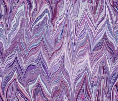 Dreamscape 2 Marbled Chevrons Texture,  Purple, Maroon, Mauve, large scale