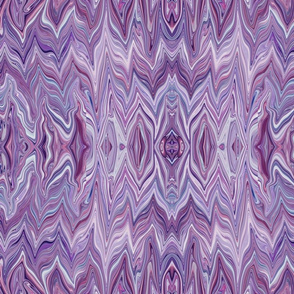 Dreamscape 2  - Analogous Rippling Arcs of Chevron Bargello in Purple - Lavender - Large