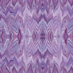 Dreamscape 2  - Analogous Rippling Arcs of Chevron Bargello in Purple - Lavender - Large