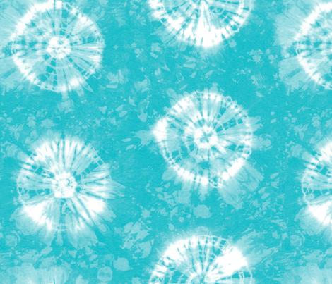 Shibori 26 Aqua fabric by theplayfulcrow on Spoonflower - custom fabric