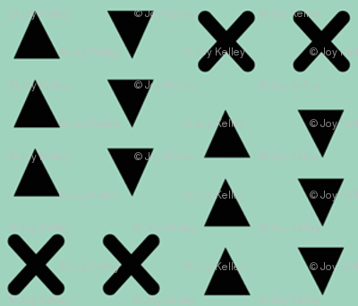 Triangles and X // Mint background
