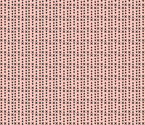 Triangles and X // Pink background fabric by howjoyful on Spoonflower - custom fabric