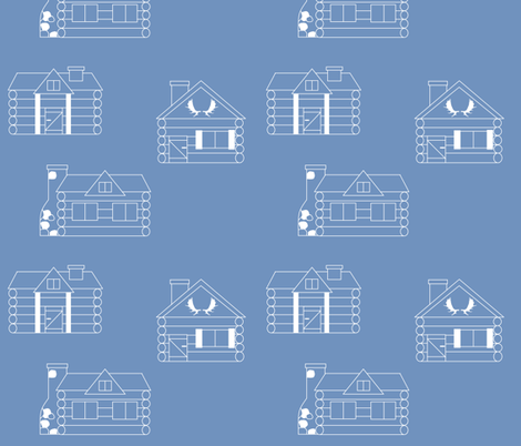 Moose cabin blueprints fabric buckwoodsdesignco spoonflower moose cabin blueprints fabric by buckwoodsdesignco on spoonflower custom fabric malvernweather Choice Image