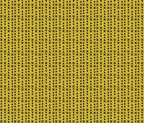 Triangles and X // Mustard background fabric by howjoyful on Spoonflower - custom fabric