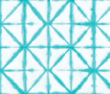 Shibori 18 Aqua fabric by theplayfulcrow on Spoonflower - custom fabric