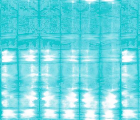 Shibori 19 Aqua fabric by theplayfulcrow on Spoonflower - custom fabric