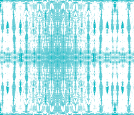 Shibori 21 Aqua fabric by theplayfulcrow on Spoonflower - custom fabric