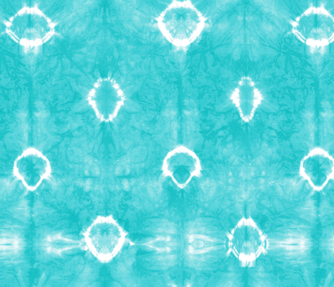 Shibori 22 Aqua fabric by theplayfulcrow on Spoonflower - custom fabric