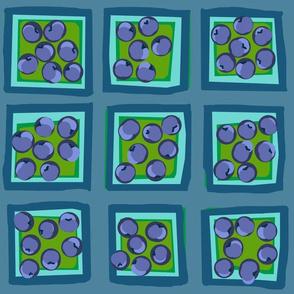 summer plum on slate blue