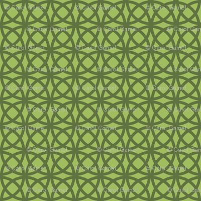 Oolong Circles Green on Green