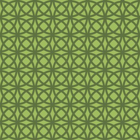 Oolong Circles Green on Green fabric by gargoylesentry on Spoonflower - custom fabric