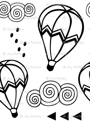 Hot air balloon // Black outline