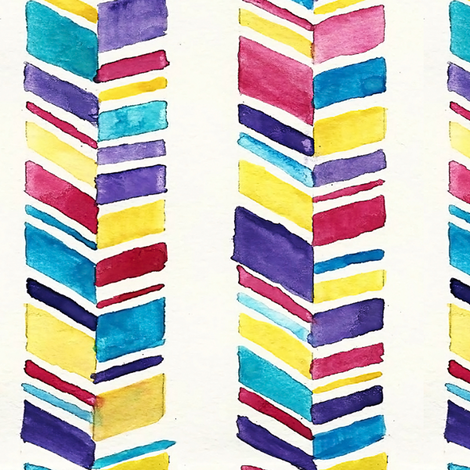 Chevron Stripes Watercolor fabric by heatherdoucette on Spoonflower - custom fabric