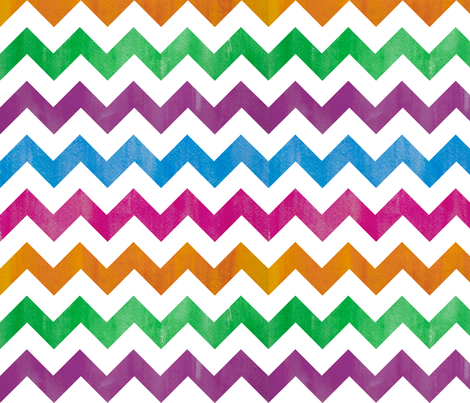 watercolor chevron - brights fabric by karamiadesigns on Spoonflower - custom fabric