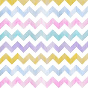 watercolor chevron - pastels