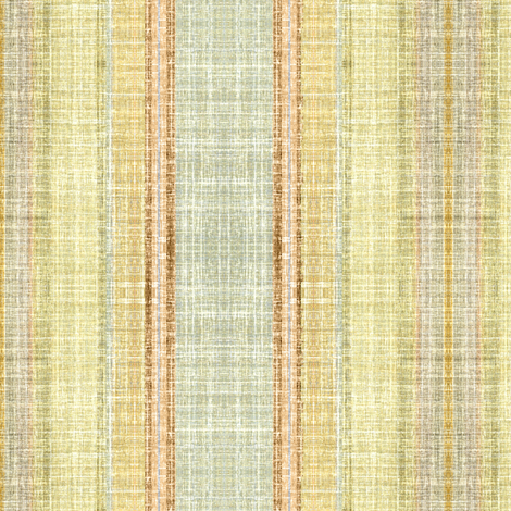 Faux Linen in Sand and Paprika vertical stripe fabric by joanmclemore on Spoonflower - custom fabric