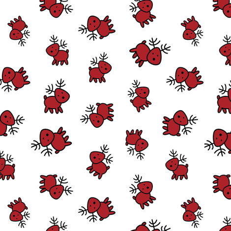 rudolph, red reindeer fabric by stofftoy on Spoonflower - custom fabric