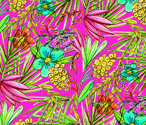 Pop Tropics fabric by kikipetiford on Spoonflower - custom fabric