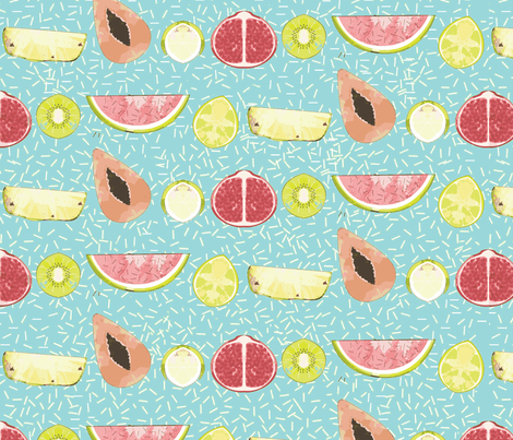 Summer Fruits  fabric by prints_allegra on Spoonflower - custom fabric