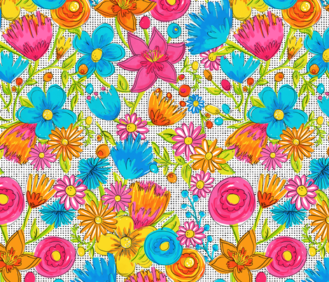 Pop Floral fabric by kikipetiford on Spoonflower - custom fabric