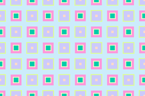 Bright Squares Fabric Blue Dog Decorating Spoonflower