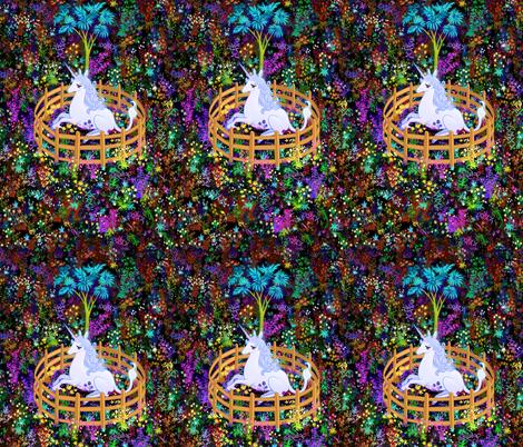 The Last Unicorn in Captivity fabric by elladorine on Spoonflower - custom fabric