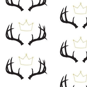 King of Wild Things (Black Antlers and Crown) Mini