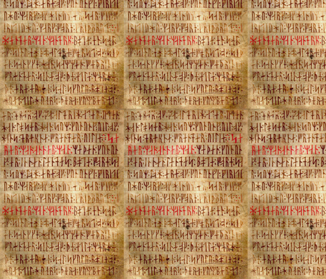 Codex Runicus Orginal fabric by odinist on Spoonflower - custom fabric