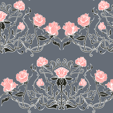 Dove's Garden fabric by jadegordon on Spoonflower - custom fabric