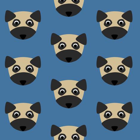 Pug Dog Repeat fabric by blue_dog_decorating on Spoonflower - custom fabric
