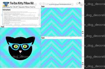 Tie-Dye Kitty Pillow Kit