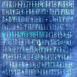 Codex Runicus Lighter Blue Reversed