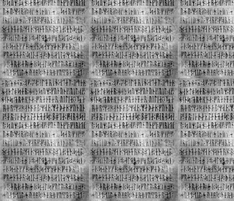 Codex Runicus Greys fabric by odinist on Spoonflower - custom fabric