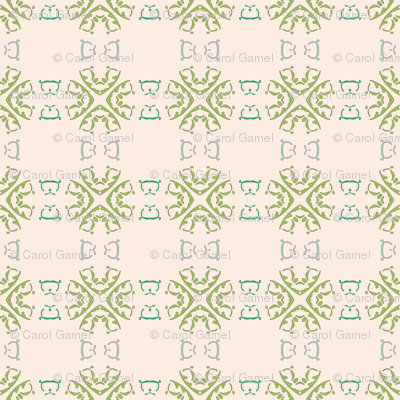 Green Wheels on Oolong Pink