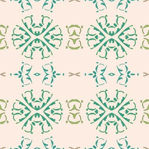 Green Oolong Medallions on Pink