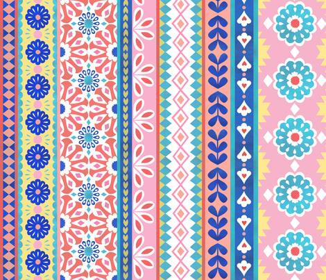 Sara stripe fabric by elephantandrose on Spoonflower - custom fabric