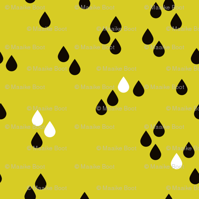 Abstract rain drops sky for little tiny abstract lovers fall yellow black and white