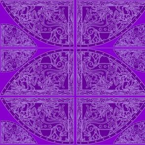 Violet Riot Viking Urnes Style