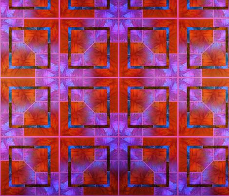 HNC Orange & Lavender fabric by desertattitude on Spoonflower - custom fabric