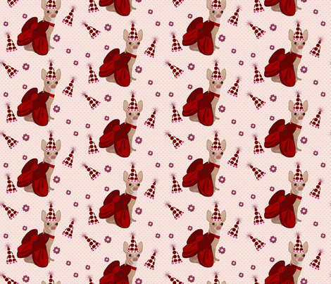 Chihuahua Birthday Party fabric by sherry-savannah on Spoonflower - custom fabric